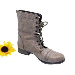 Steve Madden Women's Taupe Combat Boots Size 8